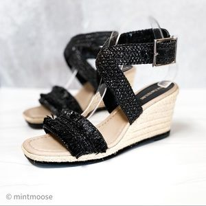 ENZO ANGIOLINI Woven Espadrille Wedge Sandals